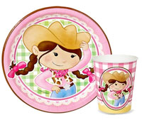 Cowgirl theme paper goods and party supplies