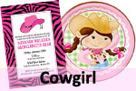 Cowgirl theme birthday party
