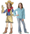 Teen cowgirl lifesize cutout
