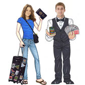 Lifesize caricature cutouts