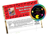 Decades and music theme party favors