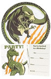 Dinosaur paper goods and party supplies