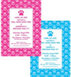 personalized dog day party invitation