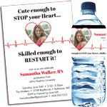 Medical School and Nursing School EKG Invitations and Favors