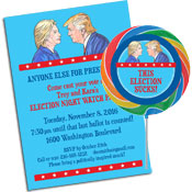 personalized election theme invitation