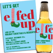 Get Elfed Up at this Christmas party! Invitations and favors