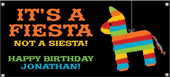 Personalized Fiesta Theme Party Banners