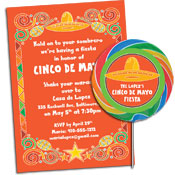 Mexican fiesta theme invitations and party supplies
