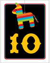 Fiesta pinata theme table number