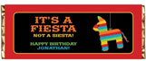 Fiesta theme personalized candy bars wrappers