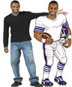 Football player lifesize cutout with your face