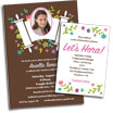personalized garden theme invitation