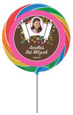 personalized garden flowers lollipop