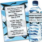 Graduation Cap theme invitations and party favors
