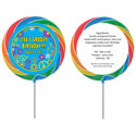 60s theme lollipops