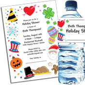 Holiday Theme Bridal Shower Invitations and Favors
