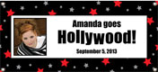 Hollywood Theme Personalized Banners