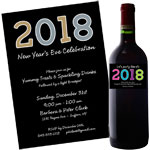 New Year's Eve 2018 Theme Invitations and Favors