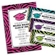 Animal Print Graduation Invitations and Favors