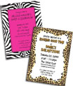 Jungle print invitations