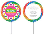 Personalized lollipop party favor