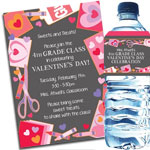 Kids Valentine's Day, Class Party Invitations and Favors
