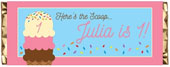 Personalized kids birthday party candy bar wrappers