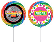kids birthday party personalized lollipop favors