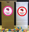 custom ladybug theme girls birthday party favor bags