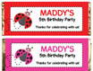 personalized ladybug candy bar wrapper