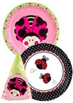 Ladybug theme paper goods and party supplies