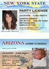 License party invitations and birth announcements