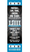 personalized super bowl party ticket invitation