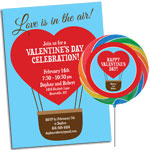 Love is in the air, hot air balloon invitations and favors