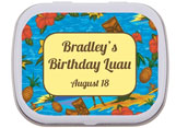 Luau theme mint and candy tins