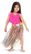 Kids luau costume kit