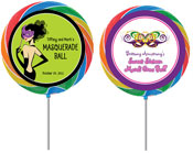 Mardi Gras party favor lollipops