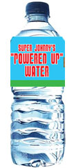 super mario brothers theme party water bottle label