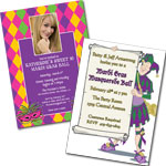 Custom Mardi Gras invitations