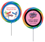 Mardi Gras lollipop party favors