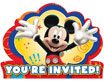 Mickey Mouse party theme invitations