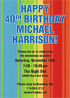 Milestone birthday party invitations