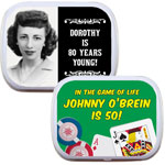 Personalized mint and candy tins