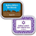 Personalized Bar and Bat Mitzvah mint tins candy favors
