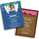 Personalized bar and bat mitzvah invitations, decorations and party supplies