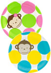 Mod Monkey theme paper goods and party supplies