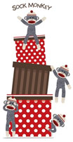 Sock monkey cutout
