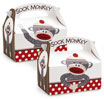 Sock monkey favor boxes