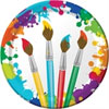 Paint theme birthday party invitations and favors