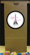 Paris theme party favor bag